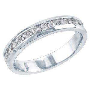 1/2 CT Diamond Wedding Ring (14K White Gold)